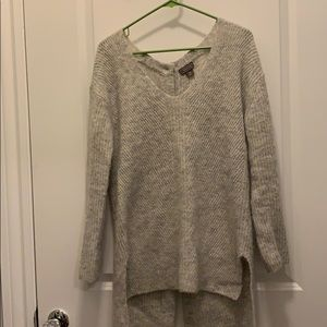 Point sur for j crew grey knit sweater